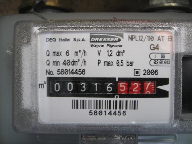 autolettura gas