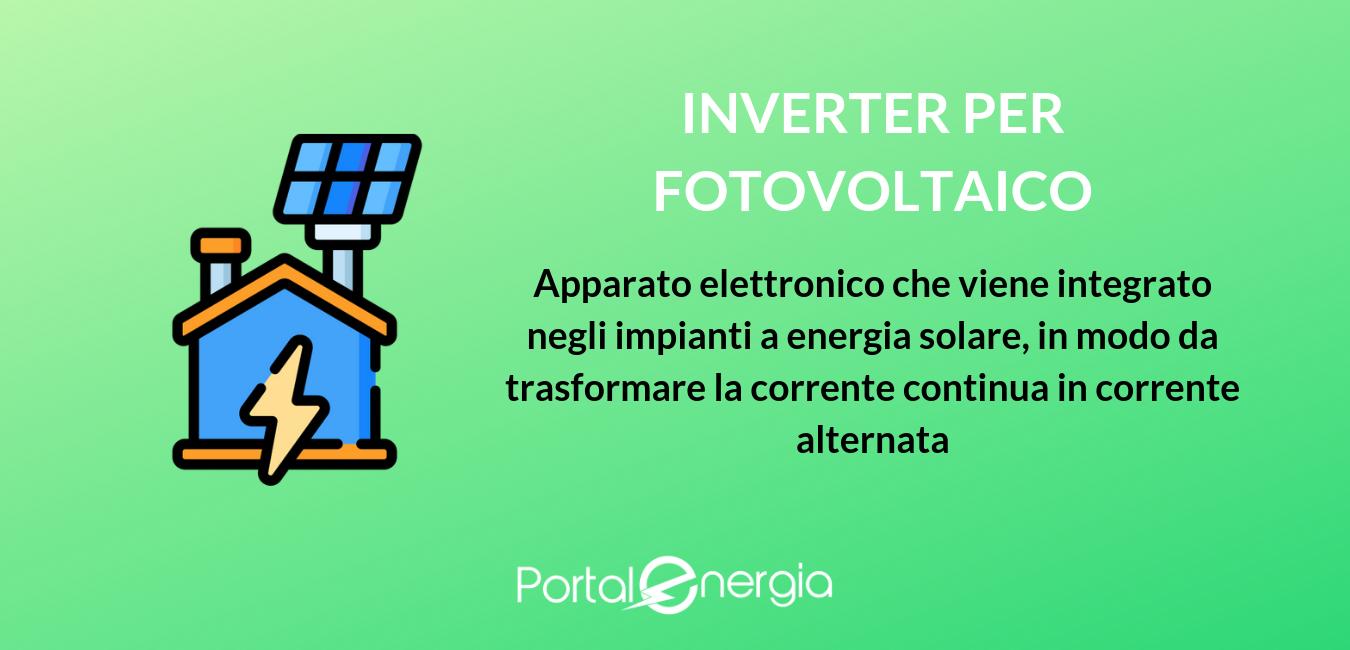 funzionamento inverter fotovoltaico